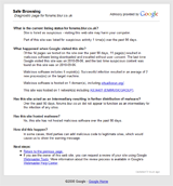 Google Safe Browsing diagnostic report